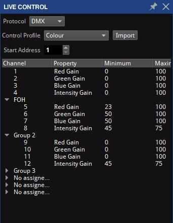 DMX Values